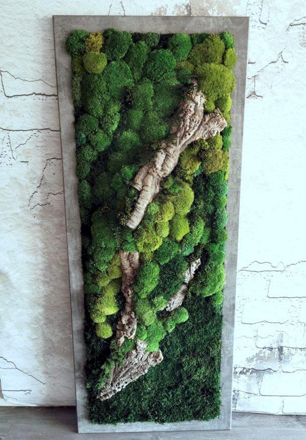 Obraz z mchów stabilizowanych